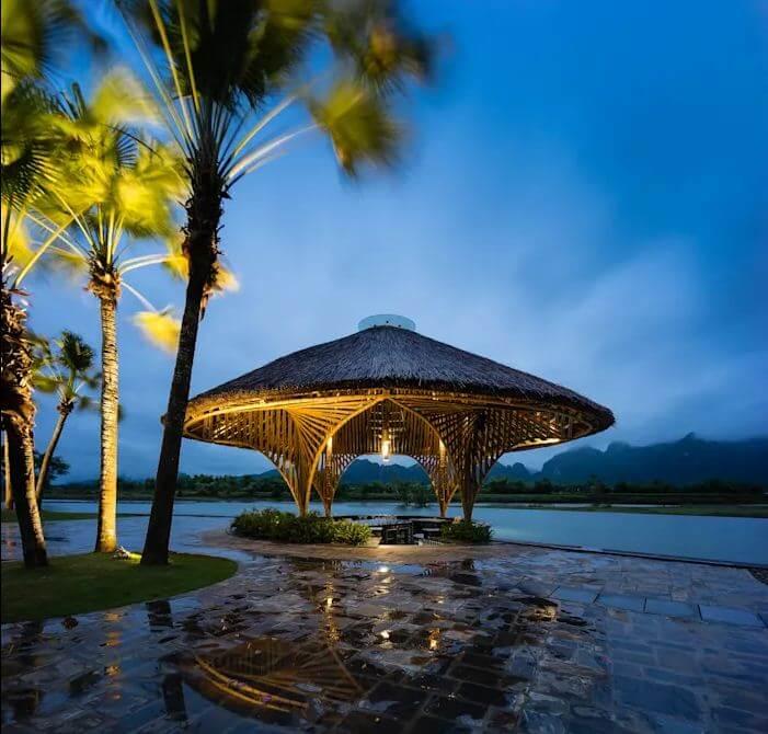 Bar hồ bơi Serena - Thiết kế nhà hàng bằng tre