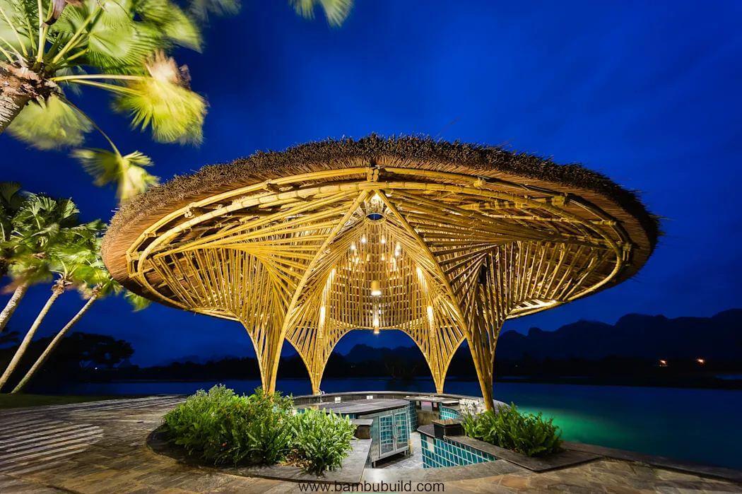 Bar hồ bơi Serena - Thiết kế nhà hàng bằng tre - 4