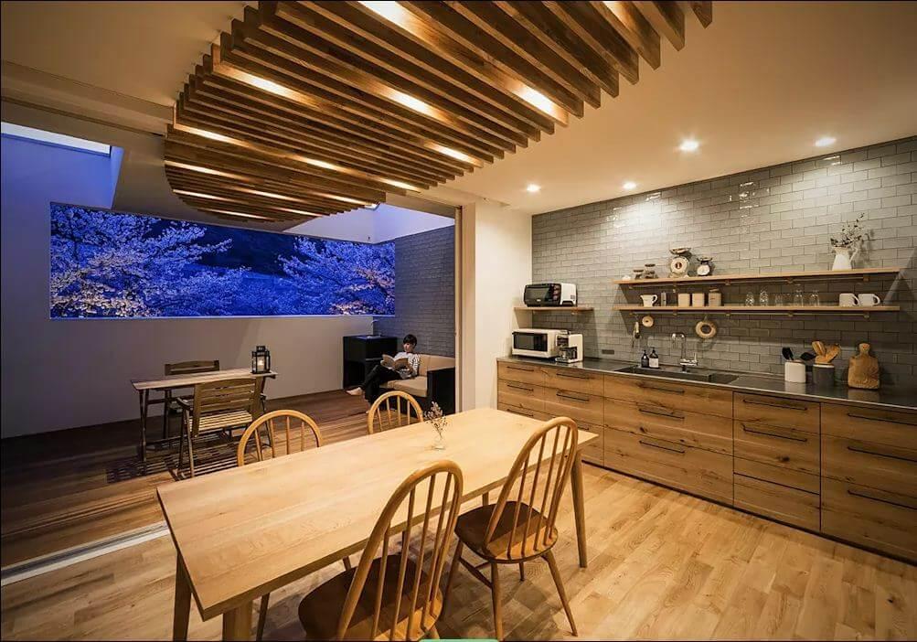 Trần gỗ trang trí - Mẫu trần nhà đẹp - 1