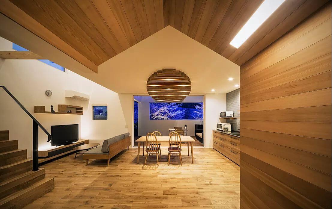 Trần gỗ trang trí - Mẫu trần nhà đẹp - 2