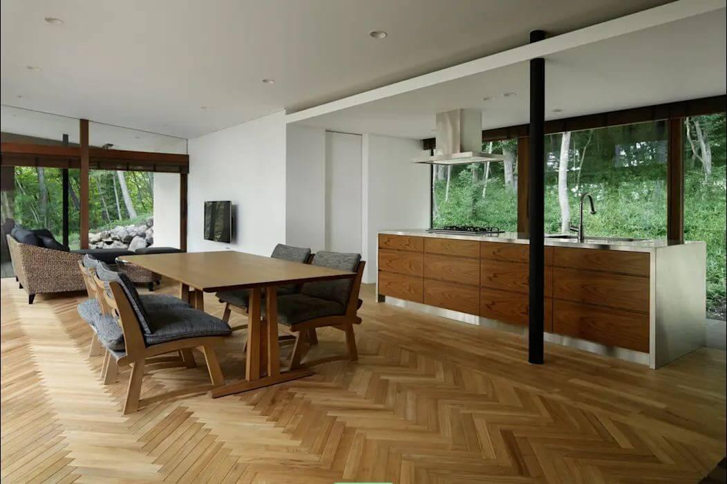 Sàn xương cá gỗ tự nhiên - Vật liệu lót sàn