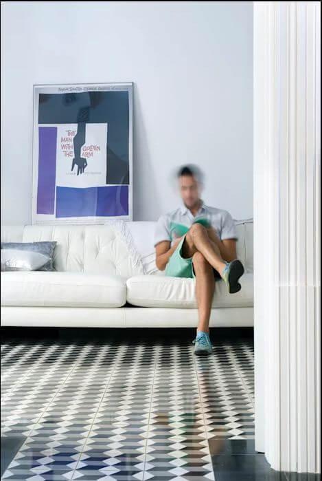 Sàn gạch kiểu cổ điển - Vật liệu lót sàn