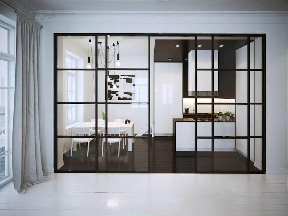 Kiến trúc cơ bản màu tối - Thiết kế nội thất đơn giản