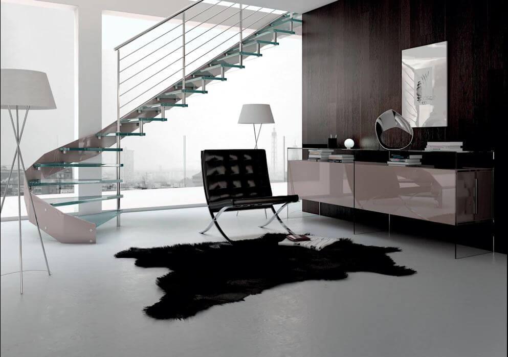Biến tấu với bề mặt kính - Thiết kế nội thất đơn giản