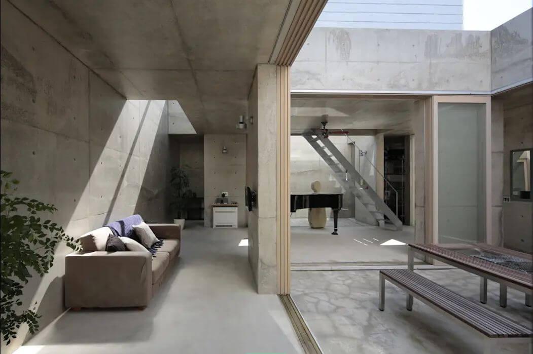 Tạo cảm giác thô mộc với bê tông xám - Thiết kế nội thất đơn giản