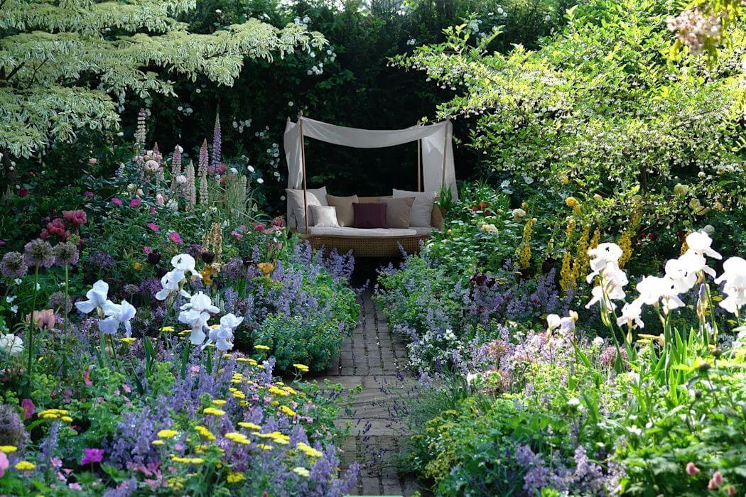 Mẫu ghế mây kết hợp chòi nghỉ - Ghế ngồi sân vườn - 1