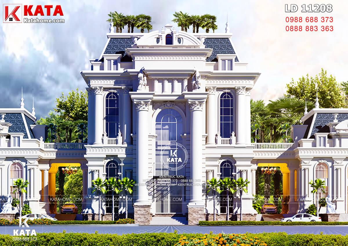 Không gian ngoại thất của mẫu biệt thự kiến trúc tân cổ điển 500m2 tại Hạ Long, Quảng Ninh