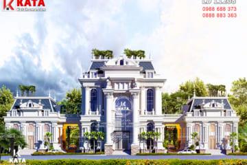 Không gian mặt tiền của mẫu biệt thự kiến trúc tân cổ điển tại Hạ Long