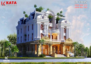 Biệt thự đẹp 3 tầng kiến trúc pháp tân cổ điển