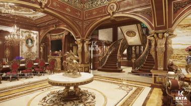 Nội thất phòng khách sang trọng có thông tầng cầu thang đẹp
