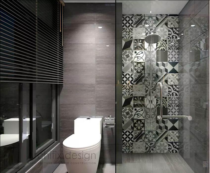 Không gian phòng tắm tại căn hộ Duplex - 1