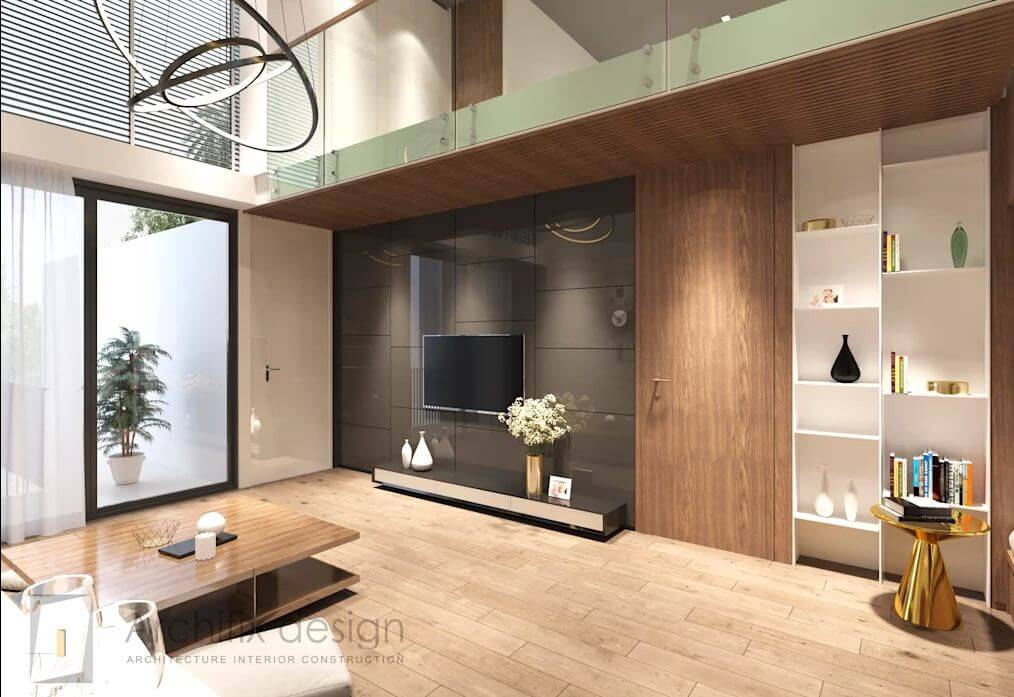 Phòng khách của căn hộ Duplex - 1