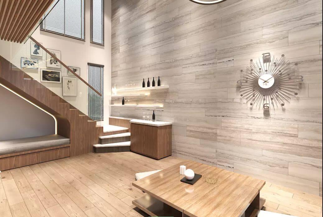 Không gian tầng 1 của căn hộ Duplex - 1