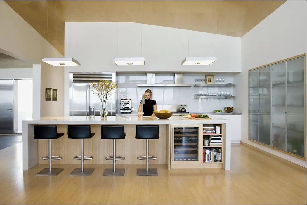 Căn bếp tiện nghi - Mẫu nhà mái nghiêng