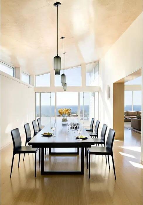 Phòng ăn rộng thoáng - Mẫu nhà mái nghiêng