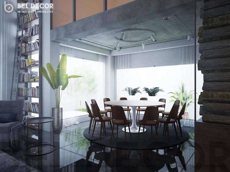 Không gian phòng ăn của mẫu biệt thự Villa