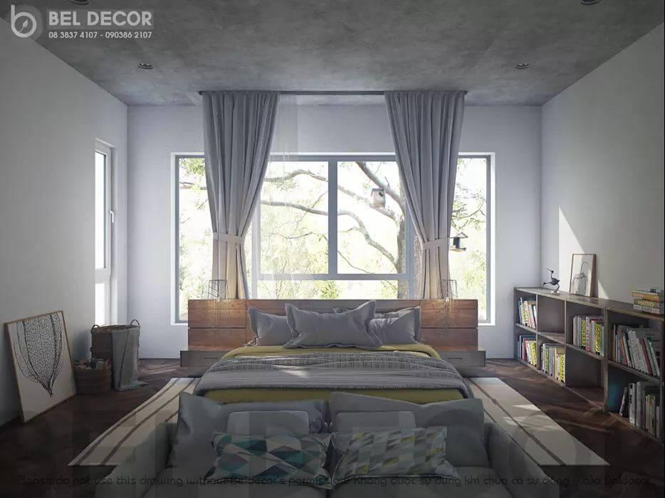 Phòng ngủ chính của mẫu biệt thự Villa