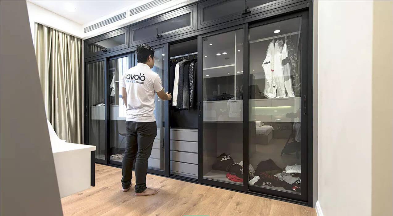 Tủ quần áo cá nhân - Thiết kế nội thất nhà chung cư - 1