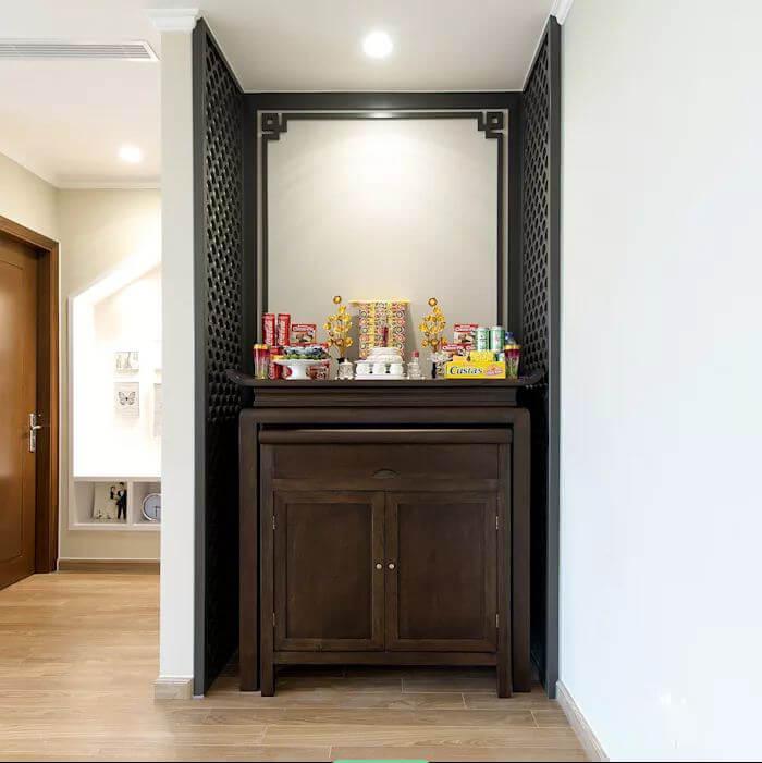 Góc tâm linh - Thiết kế nội thất nhà chung cư
