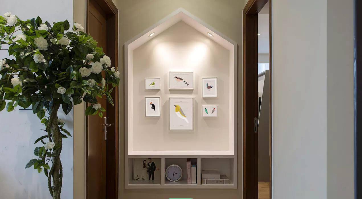 Tận dụng những khoảng tường trống - Thiết kế nội thất nhà chung cư