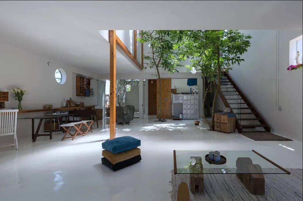 Cách đưa ánh sáng tự nhiên vào nhà thông qua giếng trời - 10