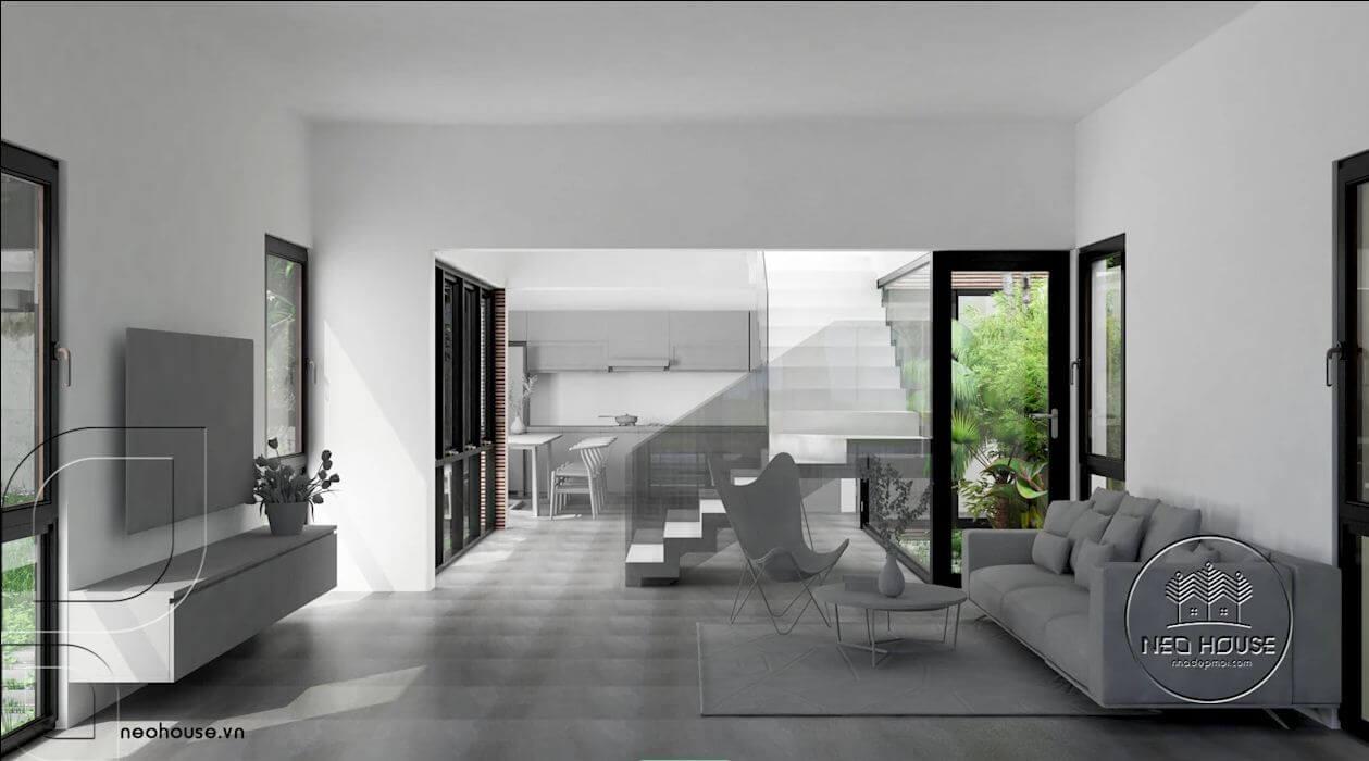 Cách đưa ánh sáng tự nhiên vào nhà thông qua giếng trời - 1
