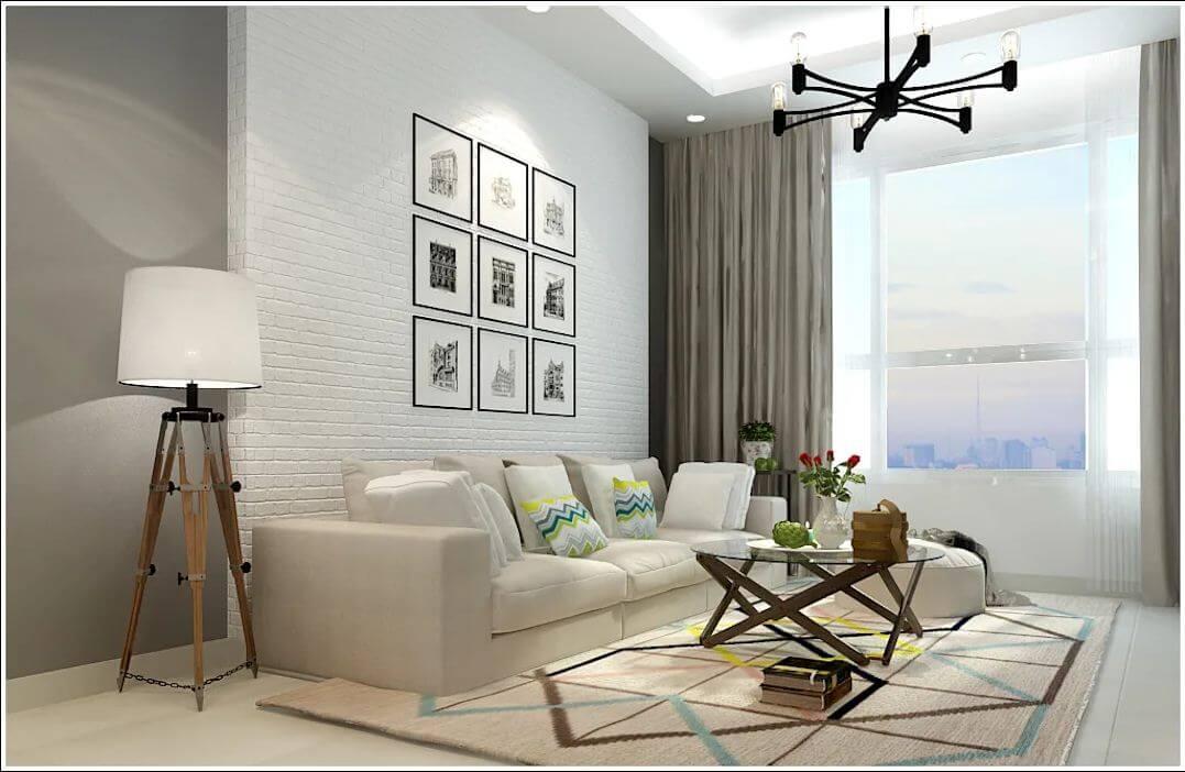 Thiết kế phòng khách của căn nhà 90m2 - 1