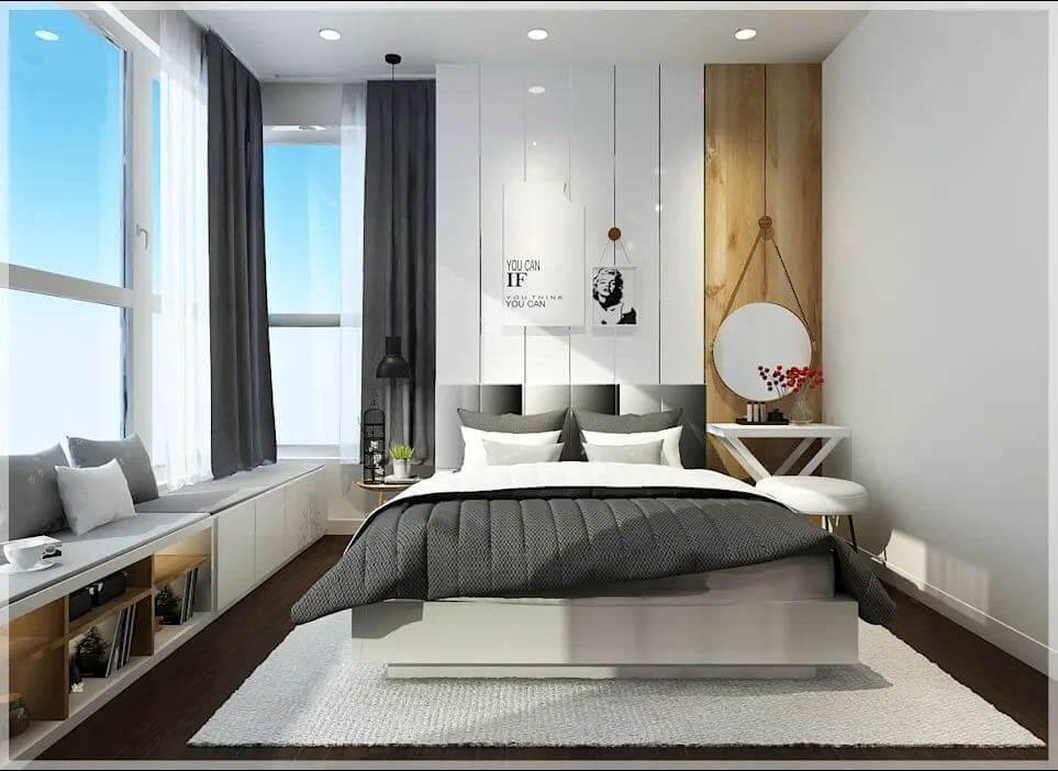 Không gian phòng ngủ phụ của căn nhà 90m2