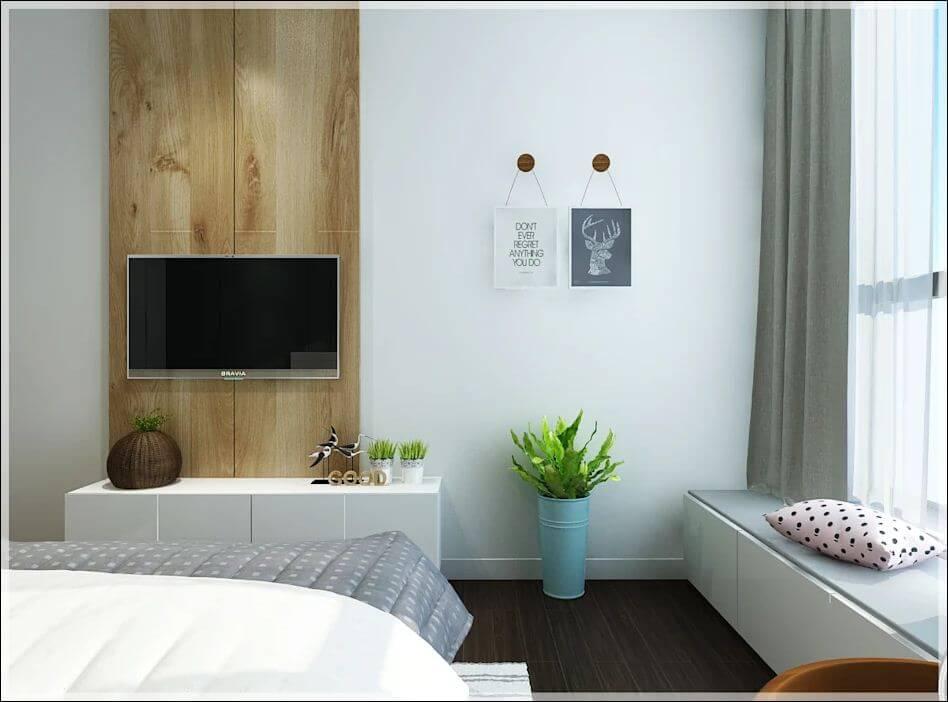 Không gian phòng ngủ phụ của căn nhà 90m2 - 3