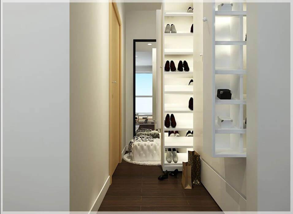 Không gian phòng thay đồ của căn nhà 90m2 - 1