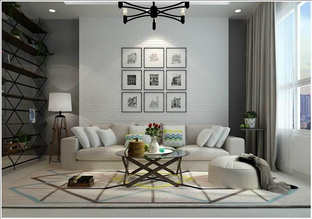 Thiết kế phòng khách của căn nhà 90m2 - 2