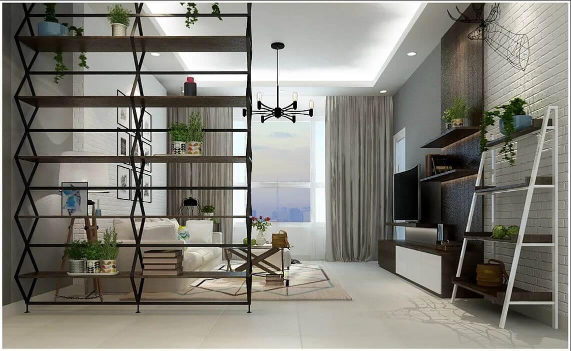 Thiết kế phòng khách của căn nhà 90m2 - 3