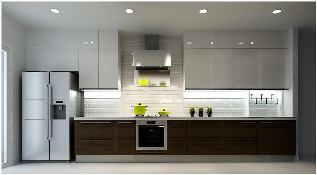 Không gian phòng bếp của căn nhà 90m2