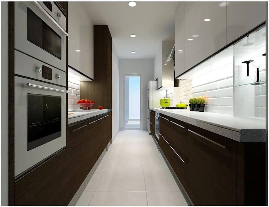 Không gian phòng bếp của căn nhà 90m2 - 1