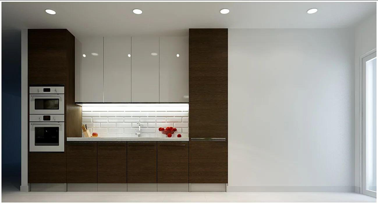 Không gian phòng bếp của căn nhà 90m2 - 2