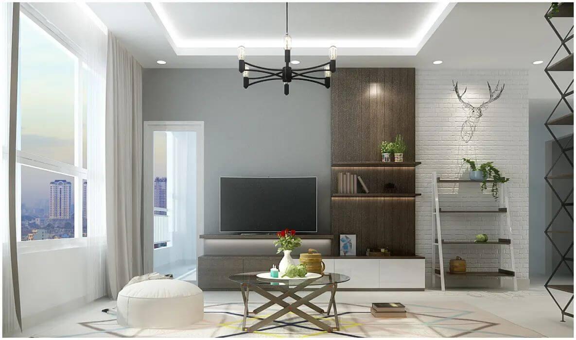 Thiết kế phòng khách của căn nhà 90m2