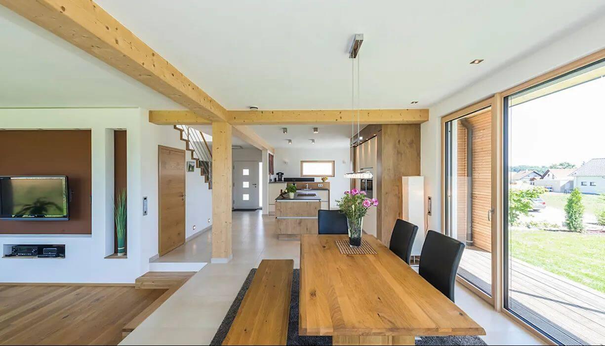 Thiết kế mở của ngôi nhà hai tầng