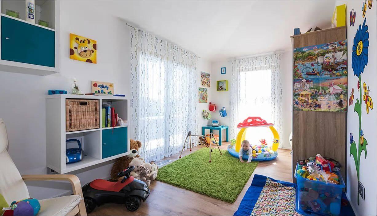 Không gian phòng dành cho trẻ của ngôi nhà hai tầng