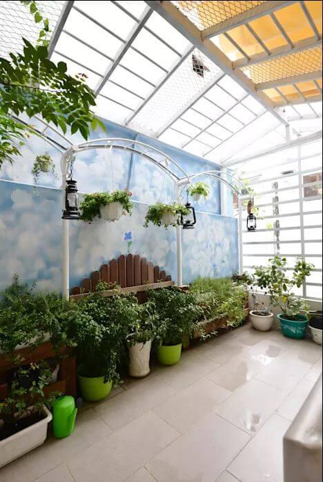 Xanh ngay trên sân thượng - Không gian xanh trong nhà