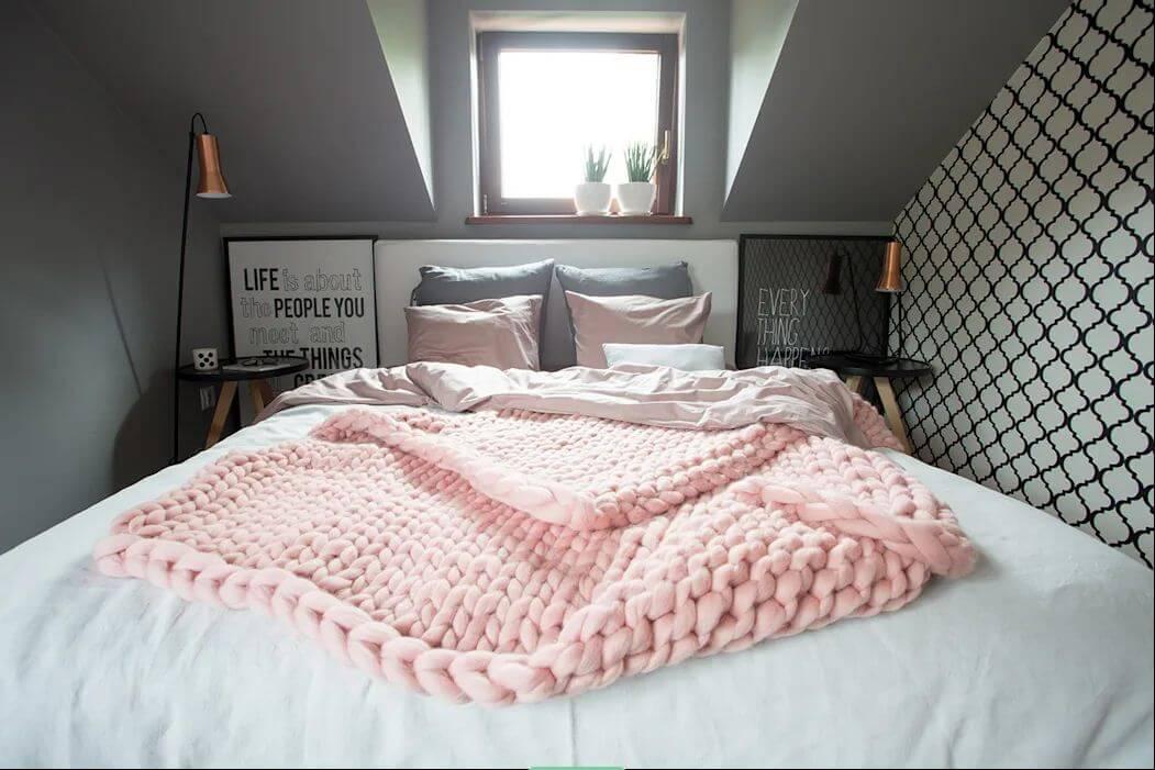 Ga trải giường - Ngôi nhà đẹp với tone màu hồng