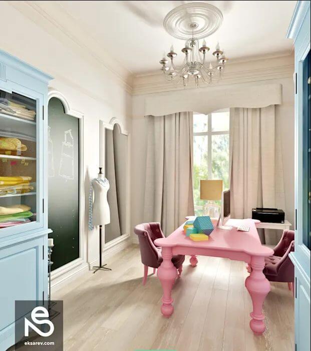 Bàn hồng - Ngôi nhà đẹp với tone màu hồng