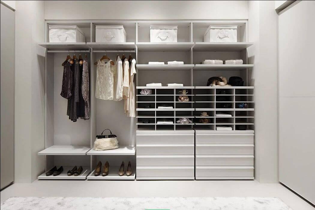 Tận dụng tối đa chiều cao của phòng - Thiết kế phòng thay đồ