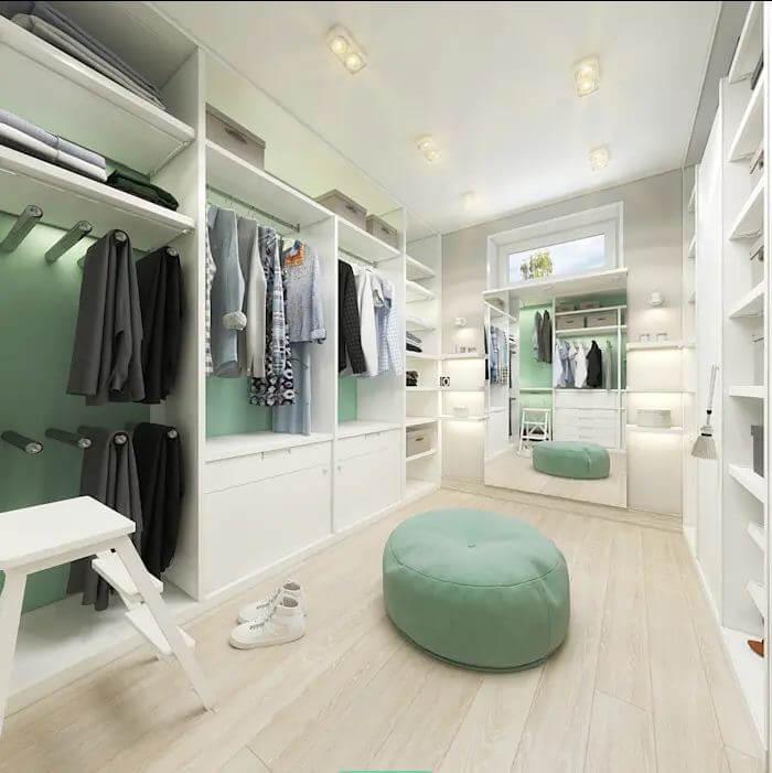 Ưu tiên sử dụng nội thất sáng màu - Thiết kế phòng thay đồ