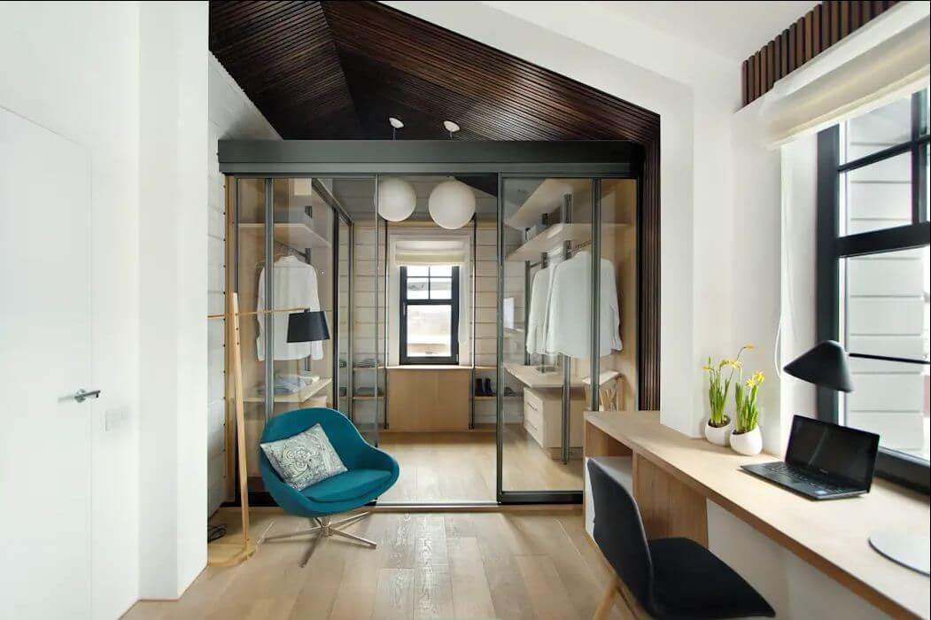 Phong cách tối giản - Thiết kế phòng thay đồ