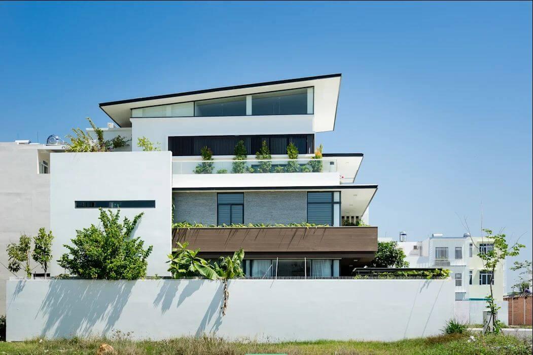 Cách bố trí các cửa sổ - Mẫu nhà phố đẹp 3 tầng