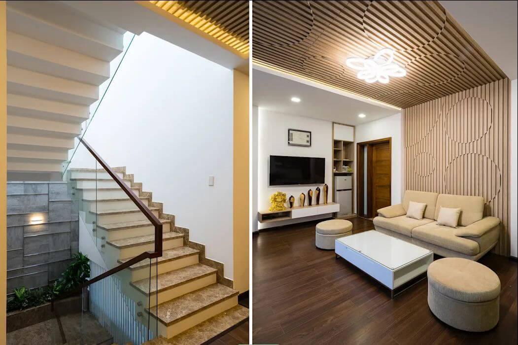 Cầu thang và tiểu sảnh - Mẫu nhà phố đẹp 3 tầng