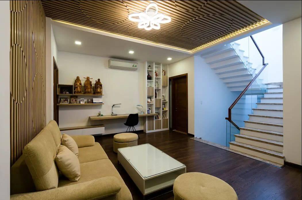 Cầu thang và tiểu sảnh - Mẫu nhà phố đẹp 3 tầng - 1