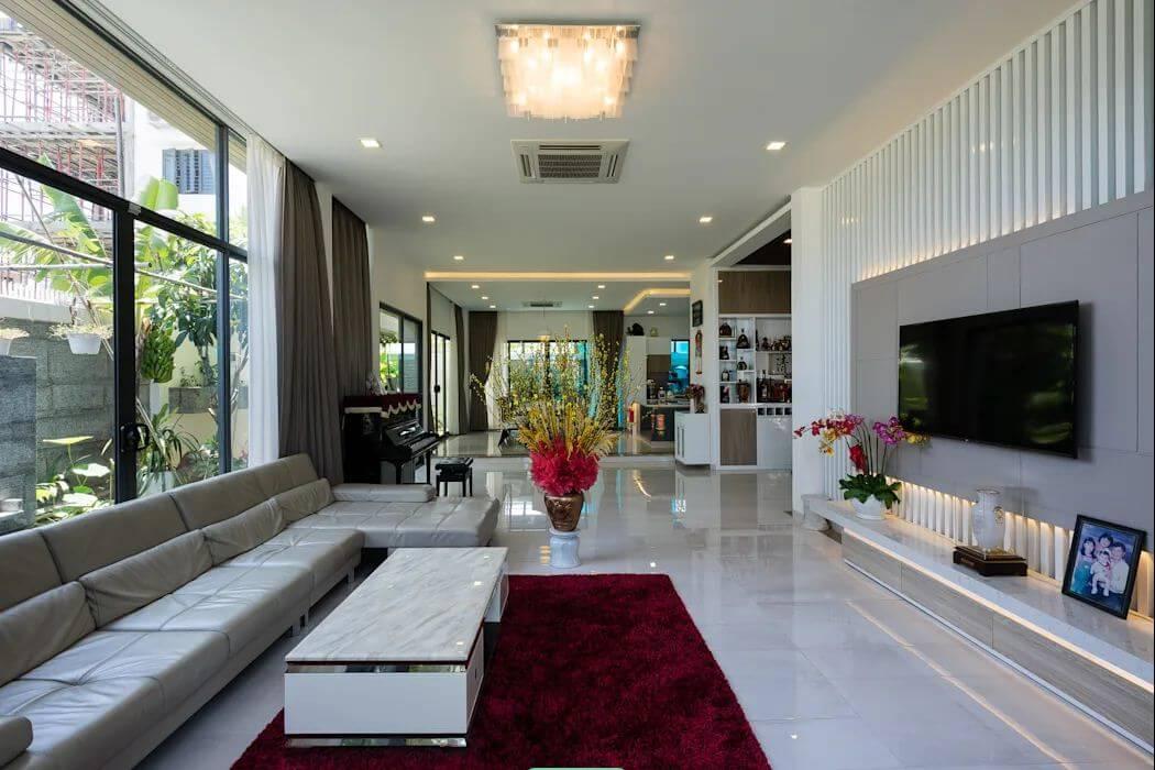 Phòng khách hiện đại - Mẫu nhà phố đẹp 3 tầng - 1