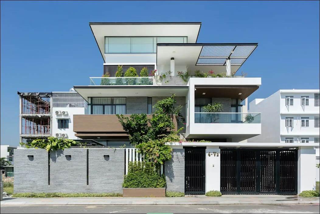 Thiết kế mặt tiền - Mẫu nhà phố đẹp 3 tầng