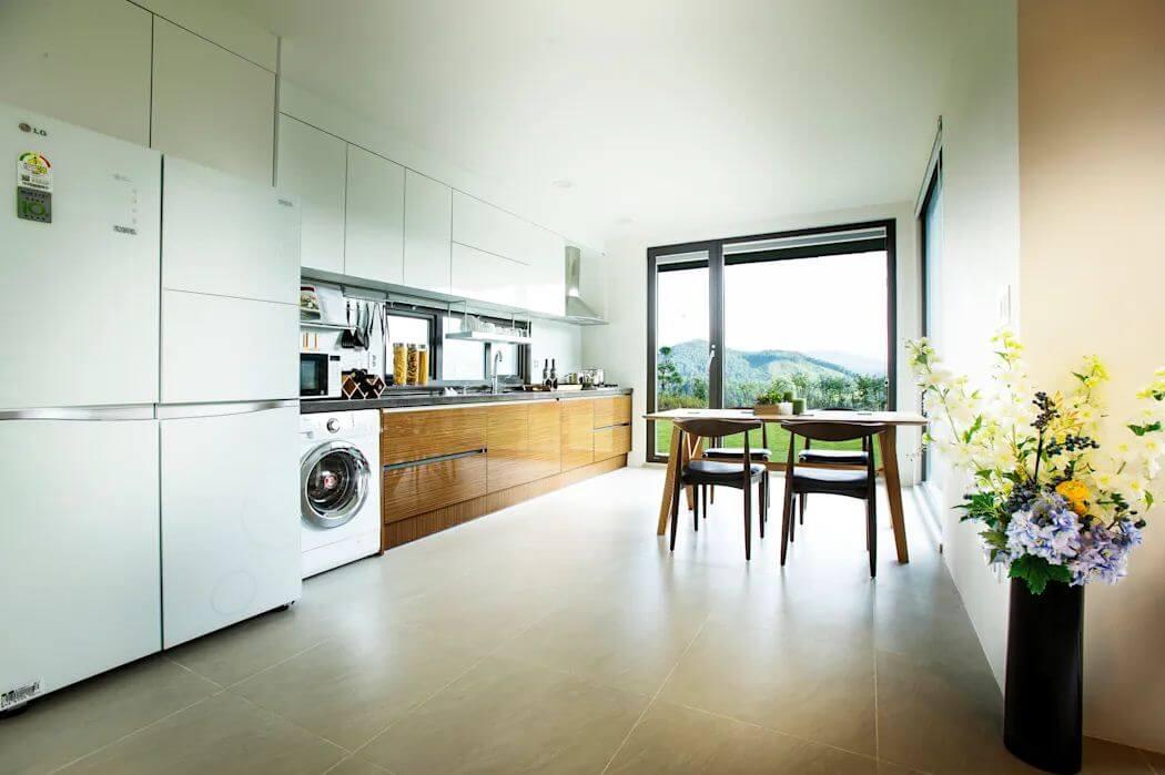 Phòng bếp và phòng ăn - Mặt tiền nhà 2 tầng